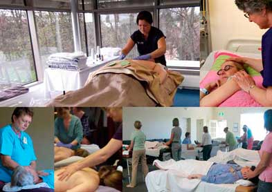 Oncology Massage Education Associates (OMEA) classroom and hospital instruction